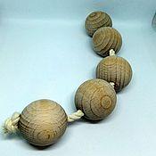 Куклы и игрушки ручной работы. Ярмарка Мастеров - ручная работа Монтессори Бусы на шнуре. Handmade.