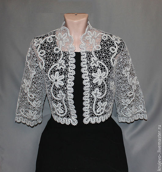 Tops handmade. Livemaster - handmade. Buy LACE JACKET 'SOFIA'.Lace, clothing, jacket, lace, clothing, jacket, cotton