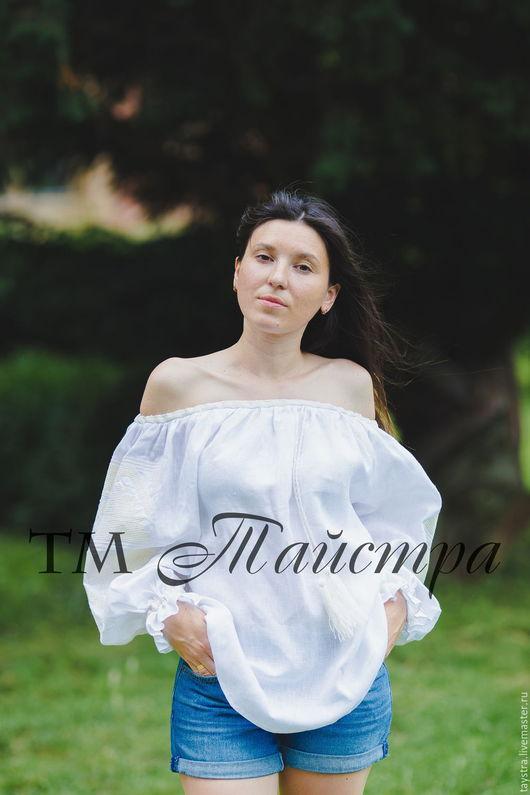 Блузки ручной работы. Ярмарка Мастеров - ручная работа. Купить Блуза бохо вышитая женская, этно стиль  Vita Kin,Bohemia. Handmade.