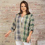 Одежда handmade. Livemaster - original item Shirt made from Italian cotton in a cage. Handmade.
