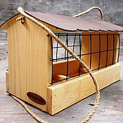 Дача и сад handmade. Livemaster - original item Bird feeder made of wood