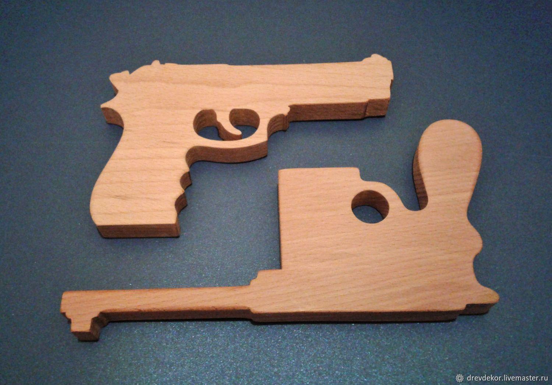 Картинки пистолетов из фанеры