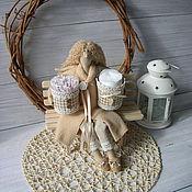 Куклы и игрушки ручной работы. Ярмарка Мастеров - ручная работа Хранительница ватных дисков и палочек ТИЛЬДА фея ангел. Handmade.