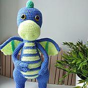 Мягкие игрушки ручной работы. Ярмарка Мастеров - ручная работа Динозаврик Гоша. Handmade.
