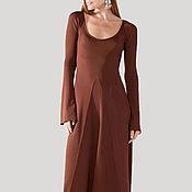 Одежда ручной работы. Ярмарка Мастеров - ручная работа Осеннее теплое вечернее платье на выход и на каждый день. Handmade.