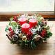 Новый год 2018 ручной работы. Заказать Рождественская композиция. Cadeaux de Noёl. Ярмарка Мастеров. Бордовый, украшение интерьера, корпоратив