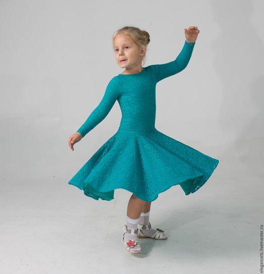 """Детские танцевальные костюмы ручной работы. Ярмарка Мастеров - ручная работа. Купить Рейтинговое платье (Бейсик) """"Jade""""  Для самых маленьких. Handmade."""