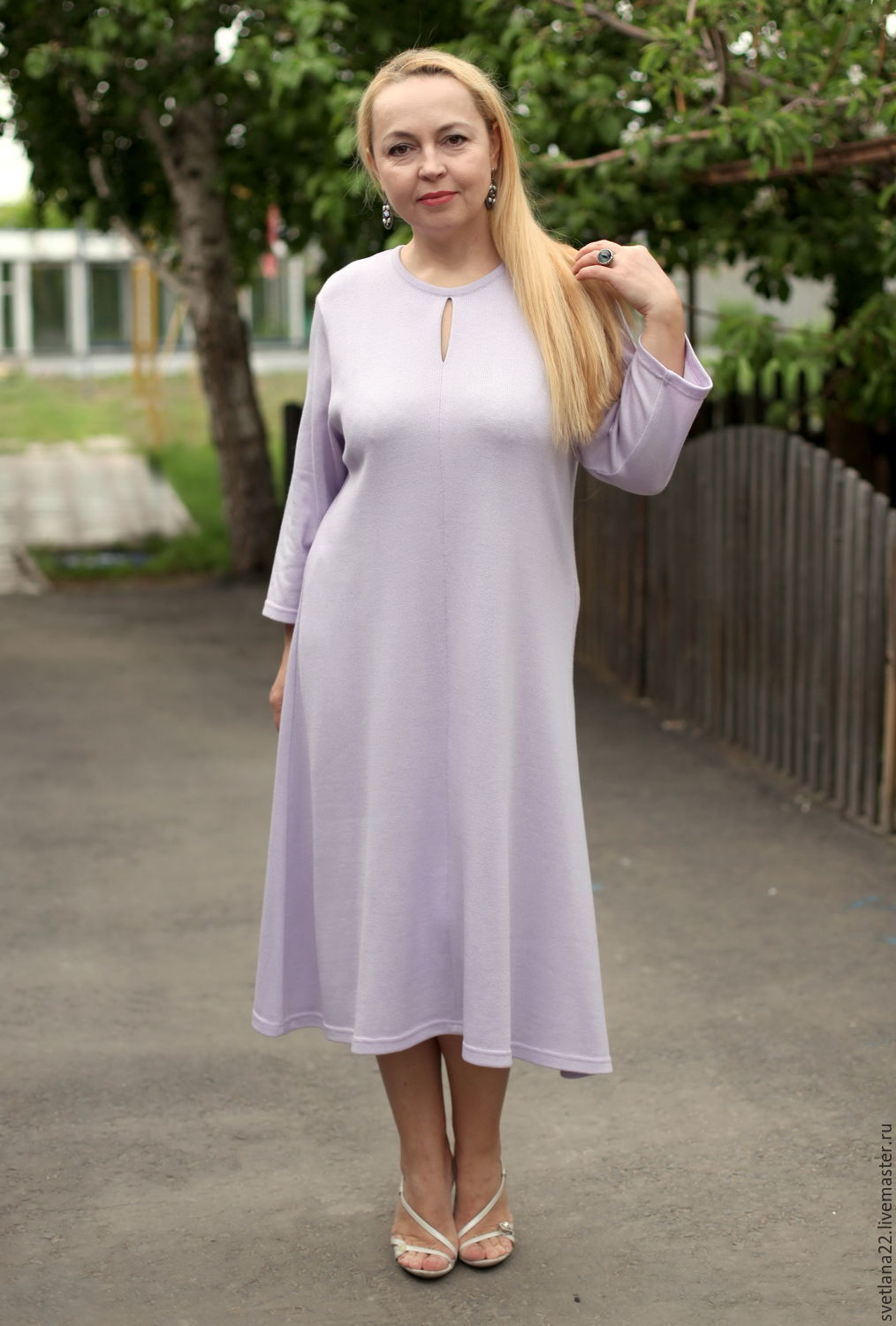 "Dress is ""Comfortable for You MIDI"" light purple cotton, Dresses, Pavlodar,  Фото №1"