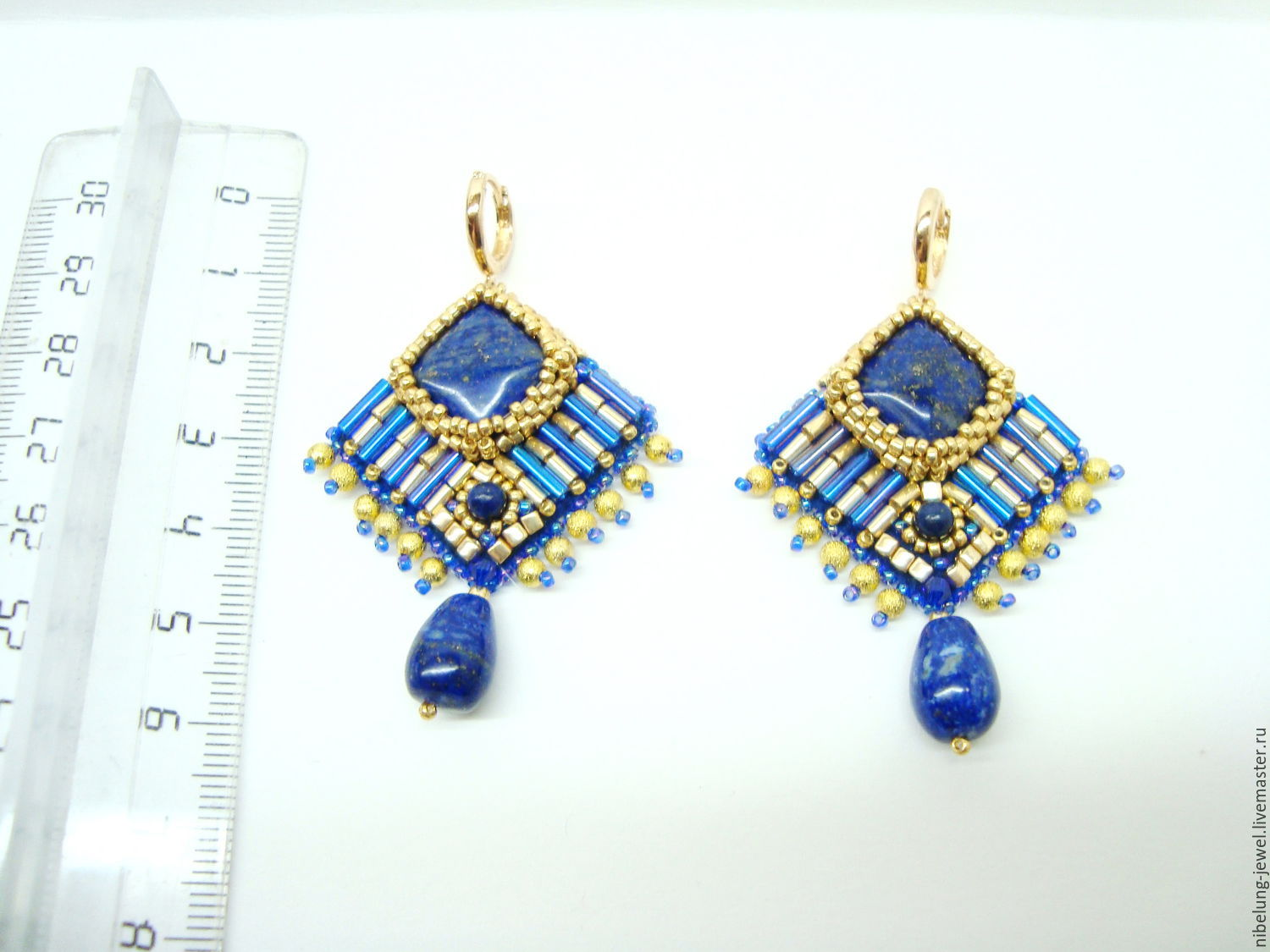 earrings lazuli studs lapis gold attic products