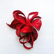 Украшения handmade. Livemaster - original item Brooch leather flower Orchid