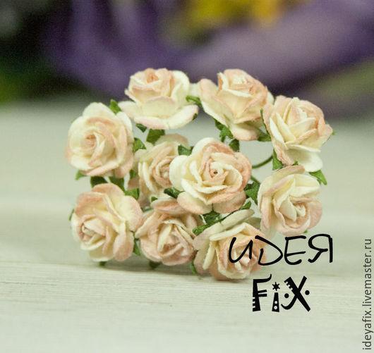 Диаметр цветочка 1 см. Длина проволочного стебелька 5,5 см.  Цена указана за букетик из 5 шт.