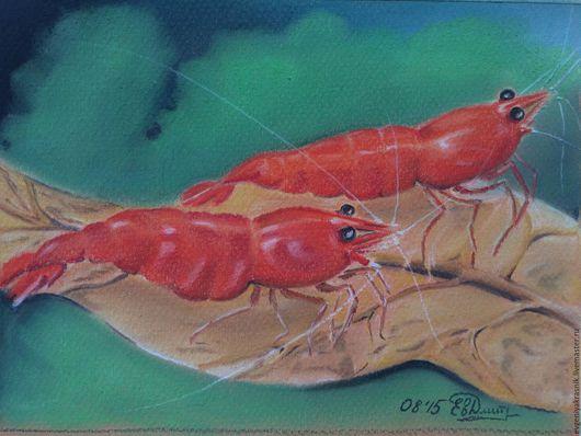 """Животные ручной работы. Ярмарка Мастеров - ручная работа. Купить Креветка """"красная вишня"""". Handmade. Ярко-красный, красная вишня"""