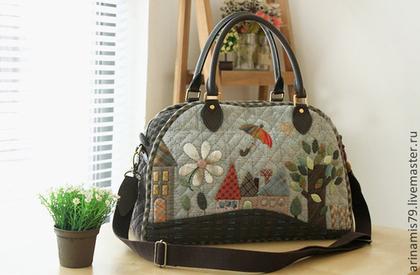 Японские сумки пэчворк фото. .  - Каталог сумочек, клатчей, портфелей, чемоданов и рюкзаков 2015 года.