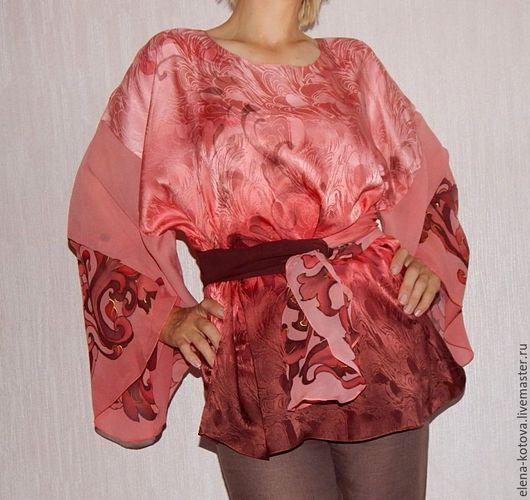 """Большие размеры ручной работы. Ярмарка Мастеров - ручная работа. Купить Блуза батик """"Танго"""". Handmade. Батик, блуза из шелка"""