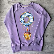"Одежда handmade. Livemaster - original item Copy of sweatshirt women with the author print ""Panda"". Handmade."