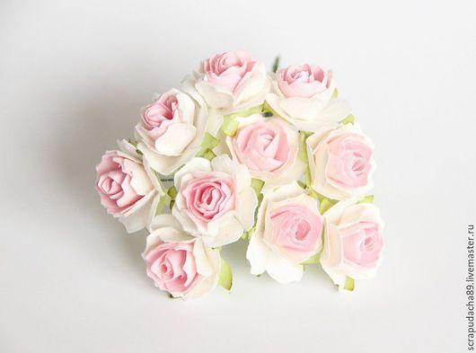 Открытки и скрапбукинг ручной работы. Ярмарка Мастеров - ручная работа. Купить Розы кудрявые 2 см, 10 шт.. Handmade.