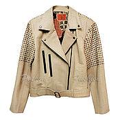 handmade. Livemaster - original item Python Strada jacket. Handmade.