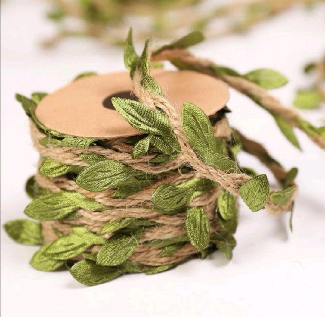 Декоративный шнур с зелёными листочками, Шнуры, Самара,  Фото №1