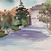 Картины и панно handmade. Livemaster - original item watercolor. painting watercolor. Street in Sevastopol. Handmade.