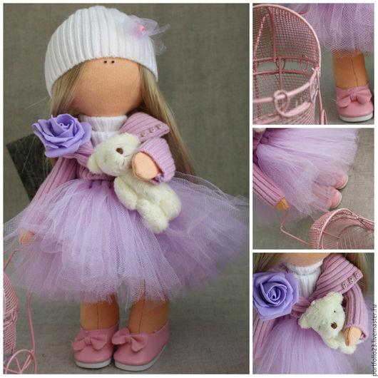 Человечки ручной работы. Ярмарка Мастеров - ручная работа. Купить Кукла текстильная МАРТА. Handmade. Белый, кукла из ткани