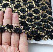 Материалы для творчества handmade. Livemaster - original item Decorative lace with soutache. Green or black color to choose. Handmade.