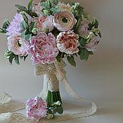 Цветы и флористика handmade. Livemaster - original item Bouquet of Peonies Shabby floral from Japanese clay. Handmade.