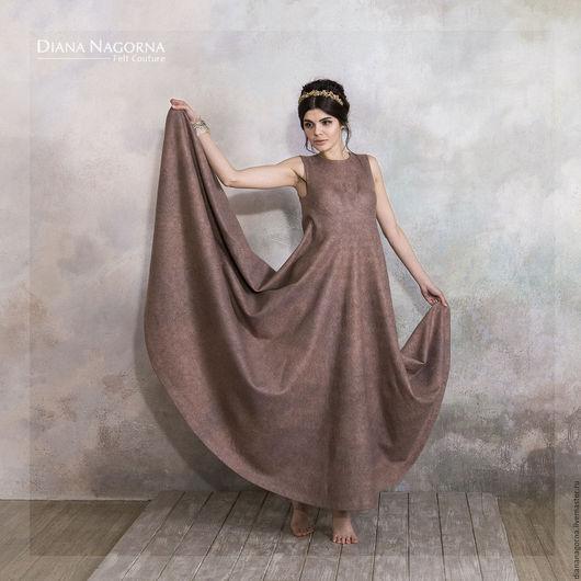 Платья ручной работы. Ярмарка Мастеров - ручная работа. Купить The Pink Ash Dress. платье из мериносовой шерсти и шелка. Handmade.