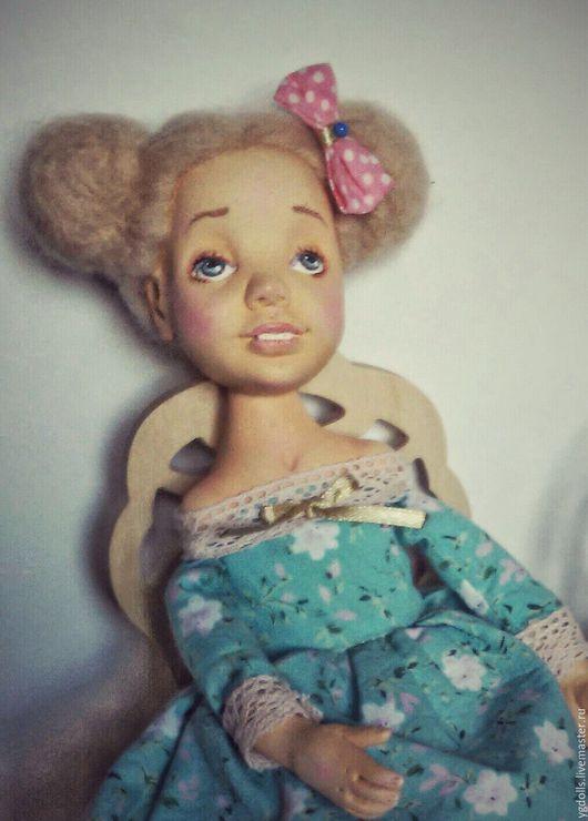 Коллекционные куклы ручной работы. Ярмарка Мастеров - ручная работа. Купить Кукла Сонечка. Handmade. Бирюзовый, авторская ручная работа