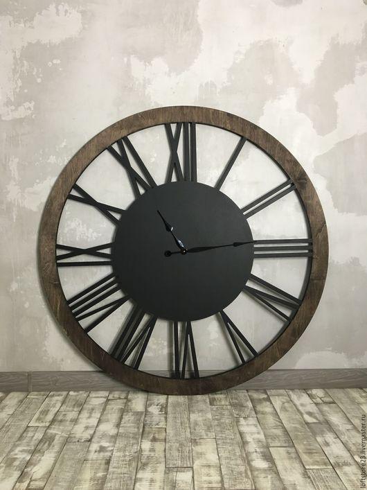 Часы для дома ручной работы. Ярмарка Мастеров - ручная работа. Купить Часы BIG LOFT диаметром 120 см.. Handmade.