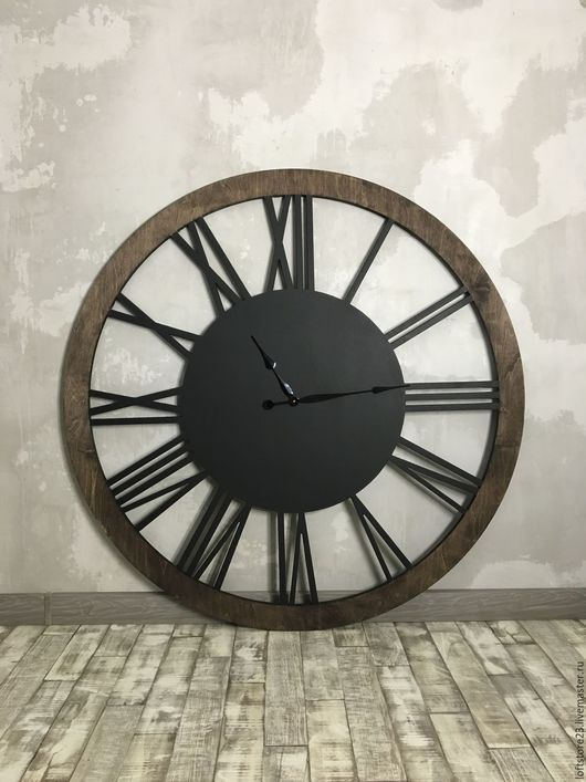 Часы для дома ручной работы. Ярмарка Мастеров - ручная работа. Купить Часы LOFT WATCH. Handmade. Комбинированный, деревянные часы