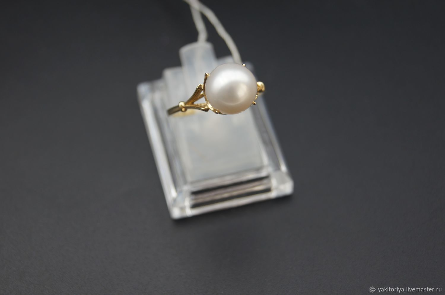 585 gold ring with natural pearls, Rings, Moscow,  Фото №1