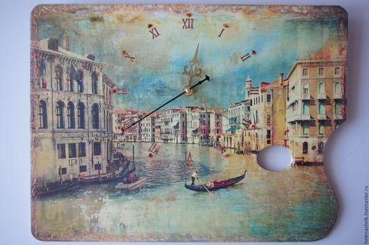"""Часы для дома ручной работы. Ярмарка Мастеров - ручная работа. Купить Часы интерьерные """"Старая Венеция"""". Handmade. Часы настенные"""