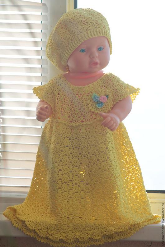Комплект для девочки (платье+берет)