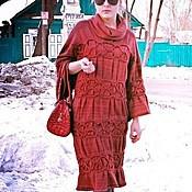 """Одежда ручной работы. Ярмарка Мастеров - ручная работа платье вязаное """"Вишня в шоколаде"""". Handmade."""