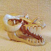 Figurines handmade. Livemaster - original item Sculpture wood Skull dragon 12h9h16. Handmade.