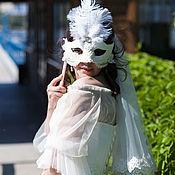 Сувениры и подарки handmade. Livemaster - original item A wedding Venetian mask with ostrich feathers. Handmade.