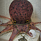 octopus burgundy. Stuffed Toys. Irina Sayfiydinova (textileheart). Online shopping on My Livemaster.  Фото №2