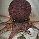 Игрушки животные, ручной работы. Octopus burgundy.... Ирина Сайфийдинова (textileheart). Интернет-магазин Ярмарка Мастеров. Осьминог, авторская работа