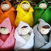 """Вальдорфские куклы и звери ручной работы. Ярмарка Мастеров - ручная работа """"Гномы малыши"""". Развивающие деревянные игрушки.. Handmade."""