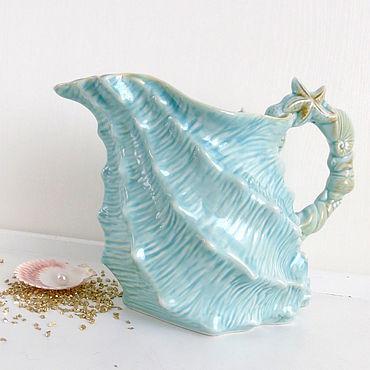 Посуда ручной работы. Ярмарка Мастеров - ручная работа Кувшин Лагуна керамика. Handmade.