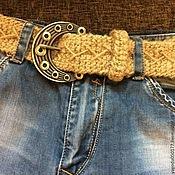 Аксессуары handmade. Livemaster - original item Women`s belt ,woven of jute. Handmade.