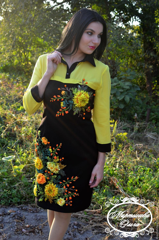 8cbb8105c5aa Платье вышитое лентами Паутинка. Мартынова Ольга. Интернет-магазин Ярмарка