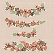 "Материалы для творчества handmade. Livemaster - original item Machine embroidery designs set ""Flower set_3"" bt037. Handmade."