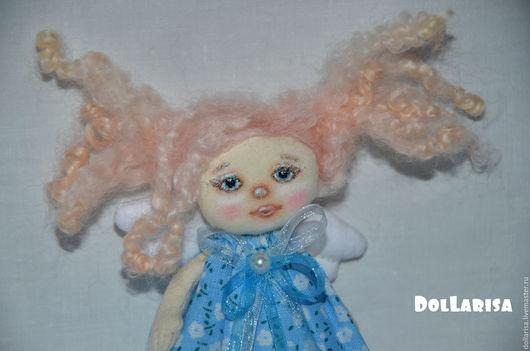 Человечки ручной работы. Ярмарка Мастеров - ручная работа. Купить Кукла текстильная миниатюрная. Handmade. Голубой, кукла ручной работы