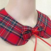 Аксессуары handmade. Livemaster - original item The collar is detachable with Brooch / plaid. Handmade.