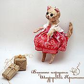 Подарки к праздникам handmade. Livemaster - original item Cotton Christmas Cat toy Marfa. Handmade.