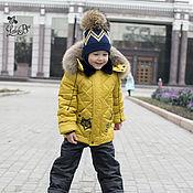 Работы для детей, ручной работы. Ярмарка Мастеров - ручная работа Зимний костюм для мальчика, цвет горчица. Handmade.