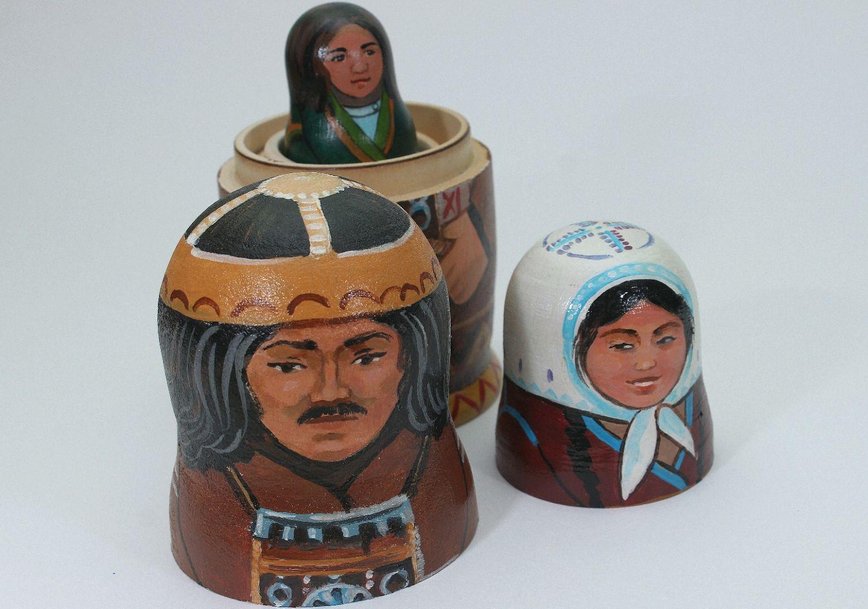 Матрёшка - семья Шамана с острова Ольхона, Портретная кукла, Иркутск,  Фото №1