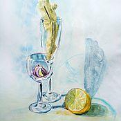 Картины и панно handmade. Livemaster - original item Quarantine still life, watercolour 40*30. Handmade.