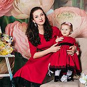 Одежда ручной работы. Ярмарка Мастеров - ручная работа Family look  Платье для мамы и дочки. Handmade.